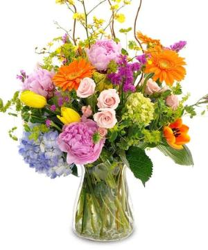 Designer's choice # 2-large Summer mixed vase by Arrington Flowers, Your Rocky Mount, VA Florist