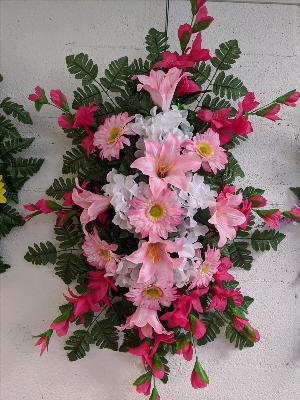 Pink & hot pink silk spray by Arrington Flowers, Your Rocky Mount, VA Florist