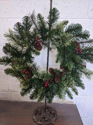 "20"" mixed fir wreath by Arrington Flowers, Your Rocky Mount, VA Florist"