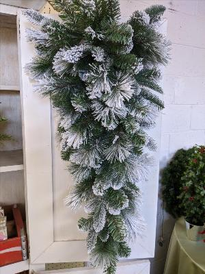 "36"" snow flocked mixed pine swag by Arrington Flowers, Your Rocky Mount, VA Florist"