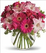 A Little Pink Me Up Bouquet by Arrington Flowers, Your Rocky Mount, VA Florist