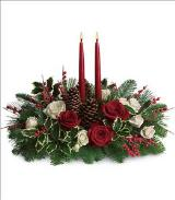 Christmas Wishes Centerpiece by Arrington Flowers, Your Rocky Mount, VA Florist