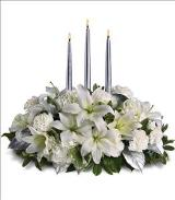 Silver Elegance Centerpiece by Arrington Flowers, Your Rocky Mount, VA Florist