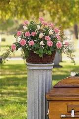 Basket with Pink Flowers by Arrington Flowers, Your Rocky Mount, VA Florist