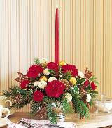 Single Red Taper Centerpiece by Arrington Flowers, Your Rocky Mount, VA Florist