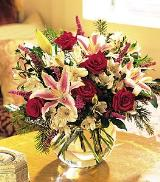 Red Roses & Stargazers by Arrington Flowers, Your Rocky Mount, VA Florist