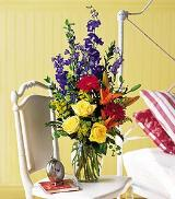 Primary Blooms Vase by Arrington Flowers, Your Rocky Mount, VA Florist