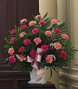 Basket with Pink Carnations by Arrington Flowers, Your Rocky Mount, VA Florist