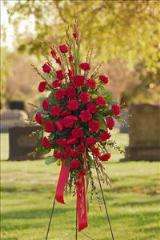 All-Red Standing Spray by Arrington Flowers, Your Rocky Mount, VA Florist