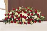 Red & White Full-Couch Spray by Arrington Flowers, Your Rocky Mount, VA Florist