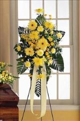 Yellow Easel Spray by Arrington Flowers, Your Rocky Mount, VA Florist