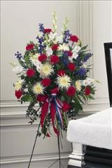Red, White & Blue Easel Spray by Arrington Flowers, Your Rocky Mount, VA Florist