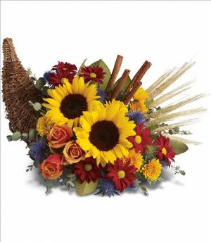 Classic Cornucopia by Arrington Flowers, Your Rocky Mount, VA Florist