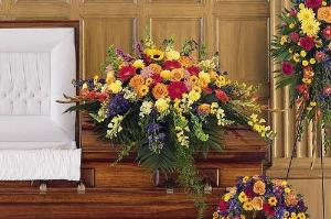 Celebration Of Life Casket Spray by Arrington Flowers, Your Rocky Mount, VA Florist