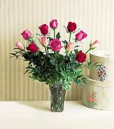 One Dozen Multi-Color Roses by Arrington Flowers, Your Rocky Mount, VA Florist