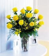 Dozen Yellow Roses by Arrington Flowers, Your Rocky Mount, VA Florist