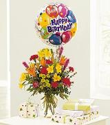 Mixed Bouquet with a Balloon by Arrington Flowers, Your Rocky Mount, VA Florist
