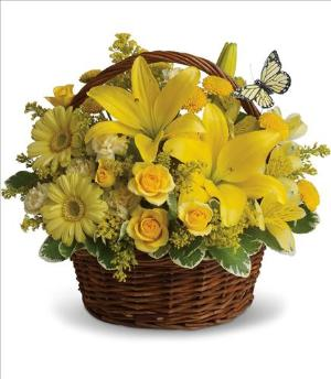 Basket Full of Wishes by Arrington Flowers, Your Rocky Mount, VA Florist